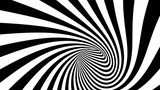 Vector striped spiral abstract tunnel