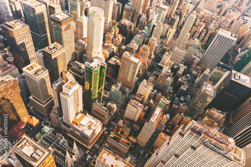 Photo  Aerial view of Midtown Manhattan