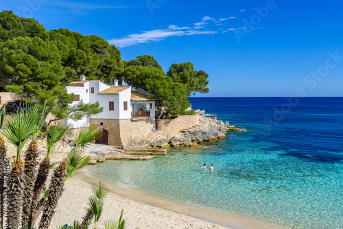 Canvas Prints Beach Cala Gat at Ratjada, Mallorca - beautiful beach and coast