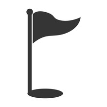 Golf Sport Flag Hole Isolated ...