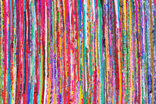 Close Up Colorful Hand Woven Rug Background