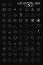 Sacred Geometry Mega Bundle. 72 Elements. Vector Illustration