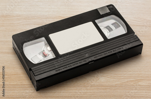 Fotografija  Black video cassette