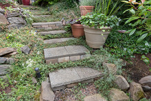 Cement Stone Steps To Backyard...