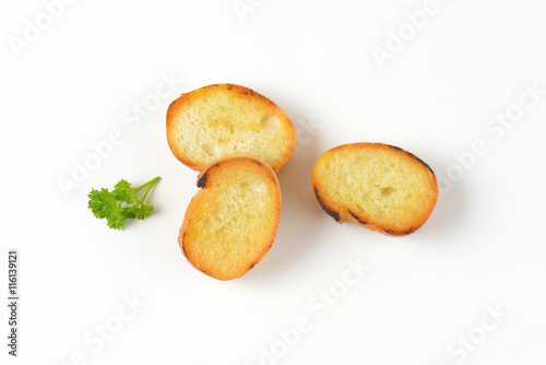 Fotografía  pan fried bread slices