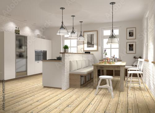 Wohnküche Moderner Landhausstil