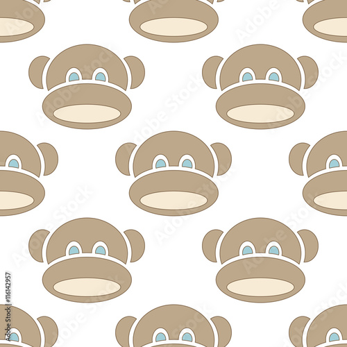 Photo  monkey seamless texture for kids