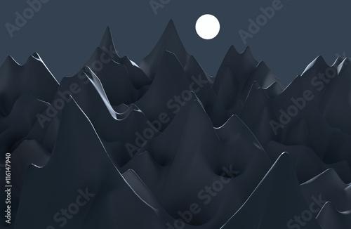 3D digital landscape © Maxim Malevich