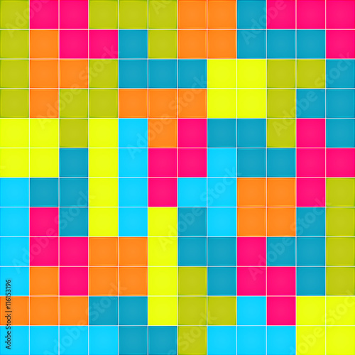 Seamless Pattern With Colorful Blocks Puzzle Vector Texture For Wallpapers Fills