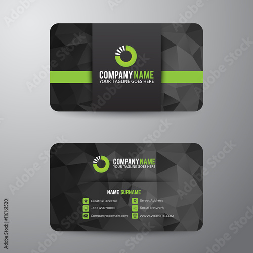 Fotografie, Obraz  Business card template