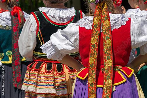 Fotografia  Detail of Polish female folk costume 4