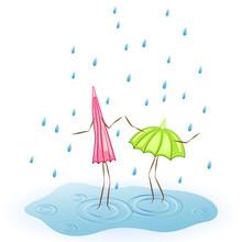 Umbrella Dancing In The Rain