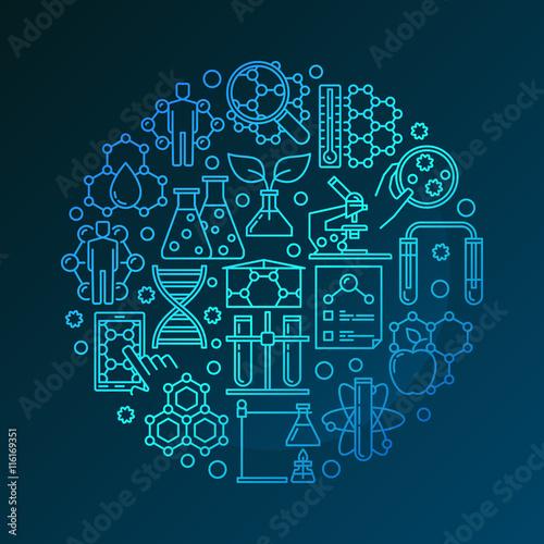 Fotografía  Colorful bio technology symbol
