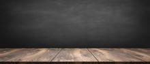 Wooden Table / Blackboard