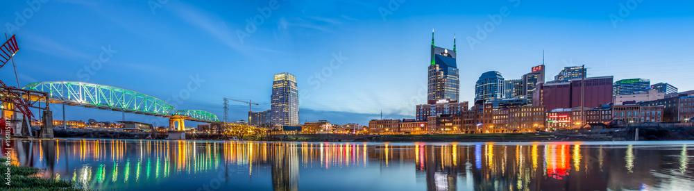 Fototapety, obrazy: Nashville TN skyline