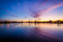 Sunset Over The Charles River, Seen From The Massachusetts Avenu