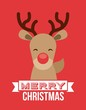 reindeer icon. Merry Christmas design. Vector graphic
