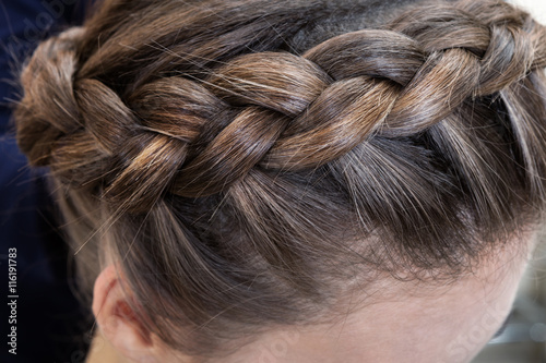 Fotografie, Obraz  beautiful braid brunette