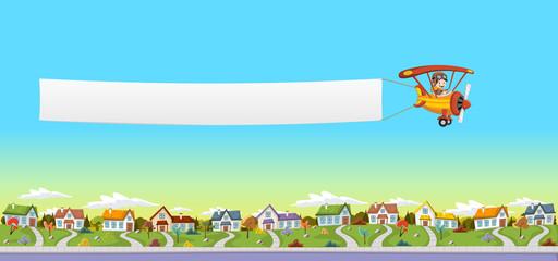 fototapeta samolot z flagą z możliwością personalizacji tapety