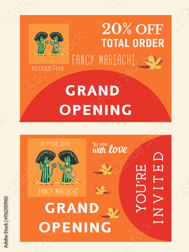 set of templates for mexican restaurant