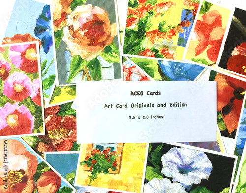 Photo  Photo of  Art Card Originals and Editions, small art forms