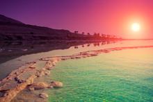 Purple Sunrise Over Dead Sea