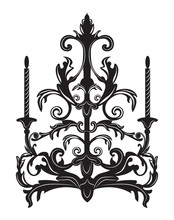 Baroque Elegant Wall Lamp With...