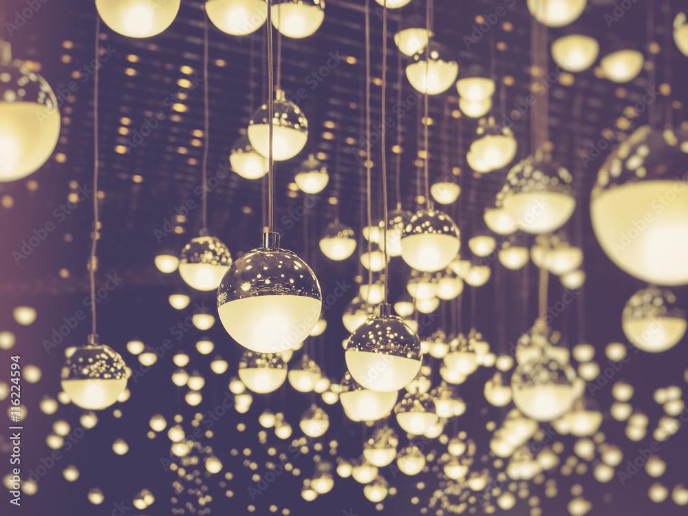 Fototapety, obrazy: Glass Ball decoration Ornament Background Vintage tone