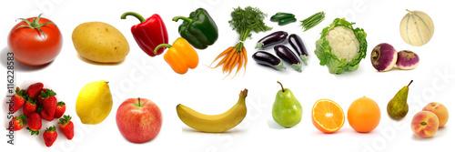 Tuinposter Verse groenten Fruits et légumes