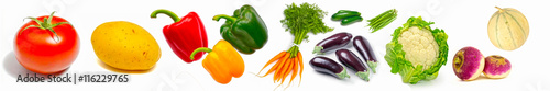 Foto op Plexiglas Verse groenten Bandeau de légumes