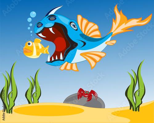 Recess Fitting Submarine Big fish sails for small