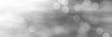 Intense Sunlit Bokeh Background In Shades Of Grey