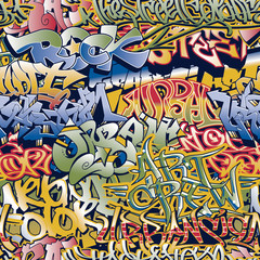 FototapetaUrban graffiti vector seamless pattern