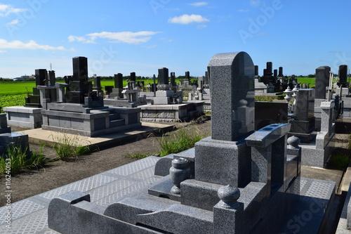 Fotografie, Obraz お墓の風景