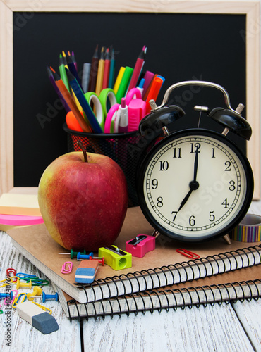 School office supplies Плакат