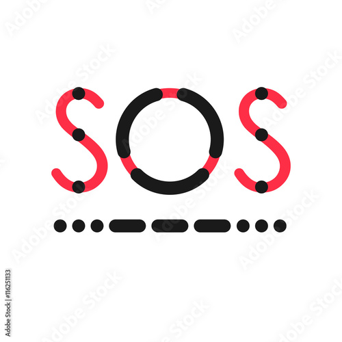 Sos Symbol In International Morse Code Buy This Stock Vector And