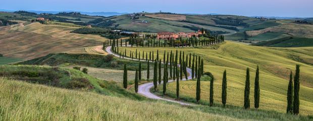 Panel Szklany Podświetlane Toskania Tuscan countryside