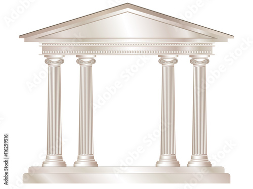 Fotografía A vector illustration of a classical style white marble temple