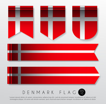 Set Of World Flag Ribbon Templ...