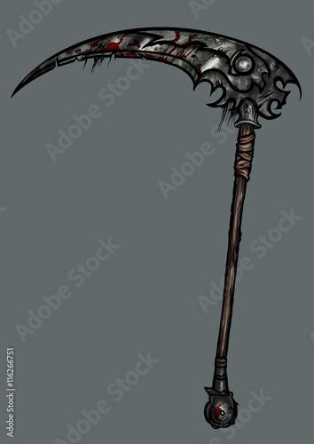 Fotomural Sinister battle scythe