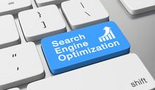 Search Engine Optimization Text Written On Keyboard Button