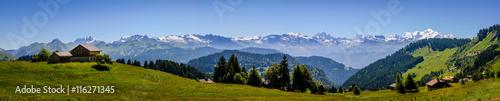 Poster Panoramafoto s Panorama et Mont Blanc