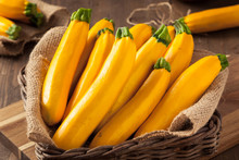 Raw Organic Yellow Zucchini Sq...
