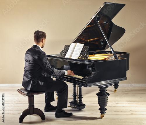 Fotografie, Obraz  Musician playing piano