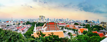 Panorama View Of Wat Saket And...