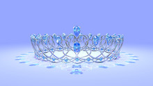 Crystal Crown With Sapphires A Crown Of Crystal Swirls Set With Sapphires. Original Design By The Artist.