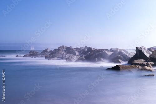 Fotobehang Antarctica long exposure shot on the Venice Beach at Los Angeles