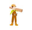Man Builder Vector Illustration