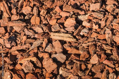 Valokuva  closeup of bark chips mulching