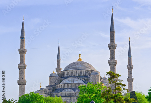 Photo  Sultan Ahmed Mosque in Istanbul. Turkey